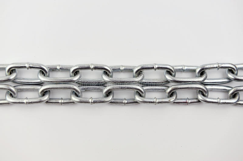 Metal chain links. Is use for lock something royalty free stock photo