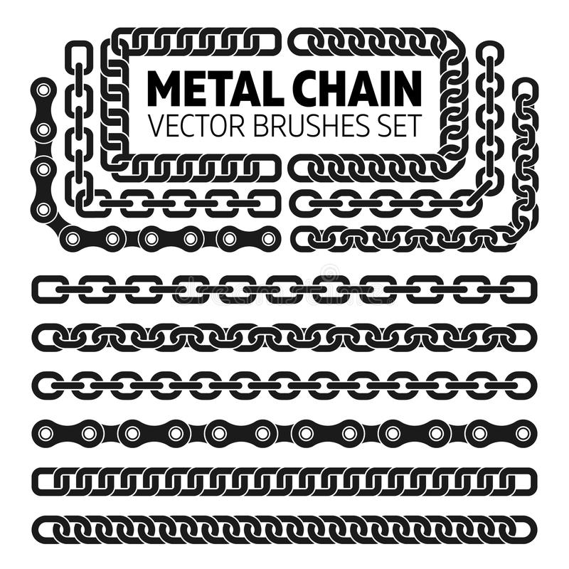 Free Metal Chain Links Vector Pattern Brushes Set Stock Image - 78657521