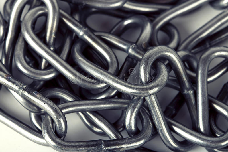 Metal chain parts background stock photos