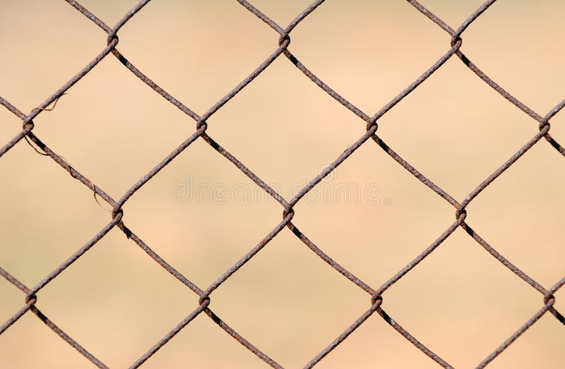 Metal chainlink fence stock images