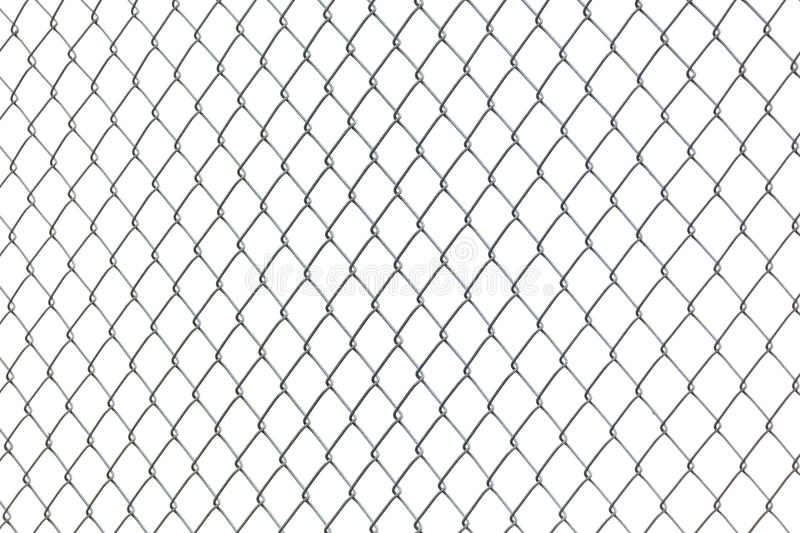 Metal Chainlink Fence royalty free stock photos