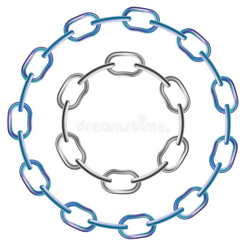 Download Metal chains stock vector. Image of metallic, industry - 24482953