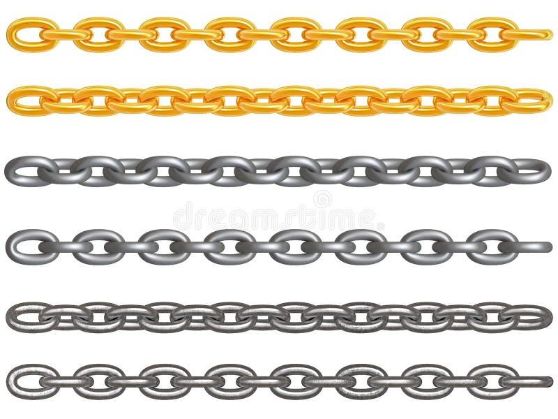 Download Metal chains stock illustration. Image of series, metal - 4072090
