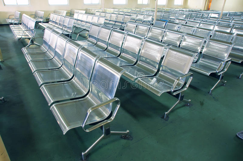 Metal chairs royalty free stock photo