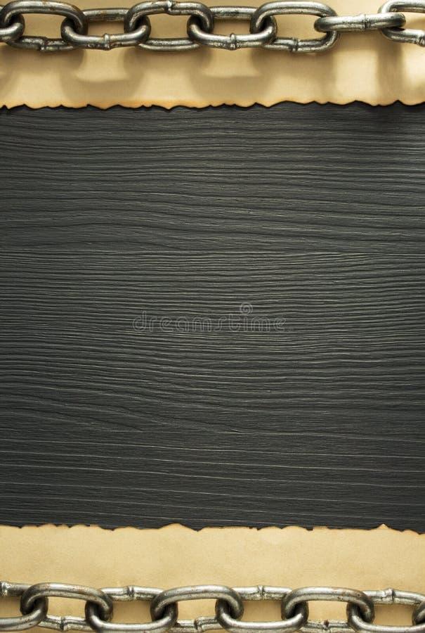 Metal chan na madeira fotografia de stock royalty free