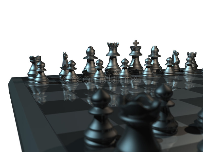 Download Metal Chess stock image. Image of piece, bishop, duel, horse - 150633