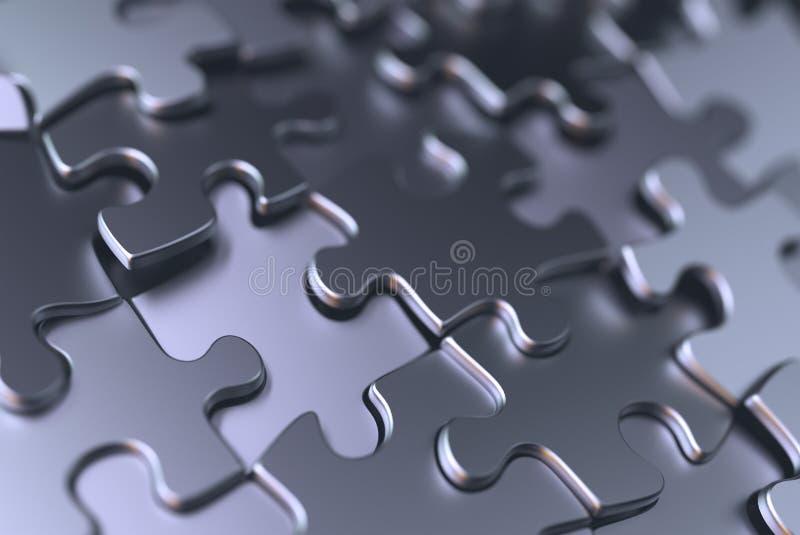 Metal Chrome del fondo del rompecabezas ilustración del vector