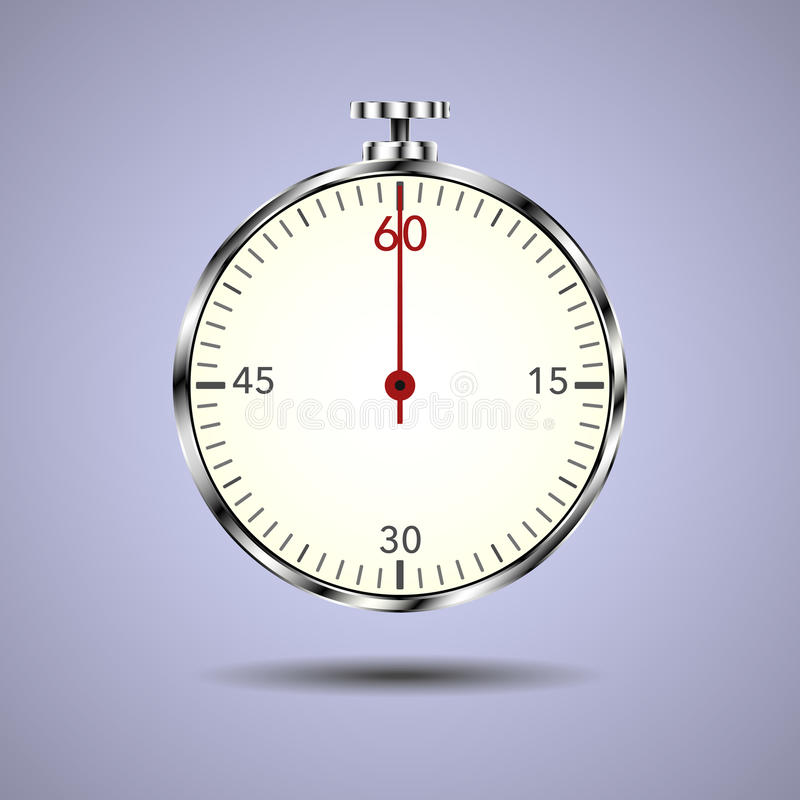 Metal chronograph with red arrow royalty free stock photos