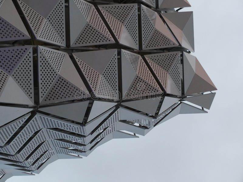 Metal Cladding on building stock image