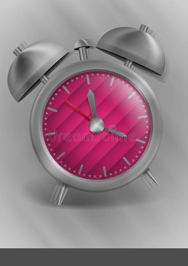 Download Metal Classic Style Alarm Clock Stock Vector - Image: 43352991