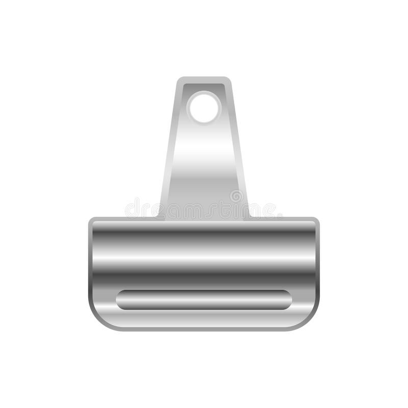 Metal clip for papers. Metal binder clip for paper isolated on white background. Vector illustration royalty free illustration