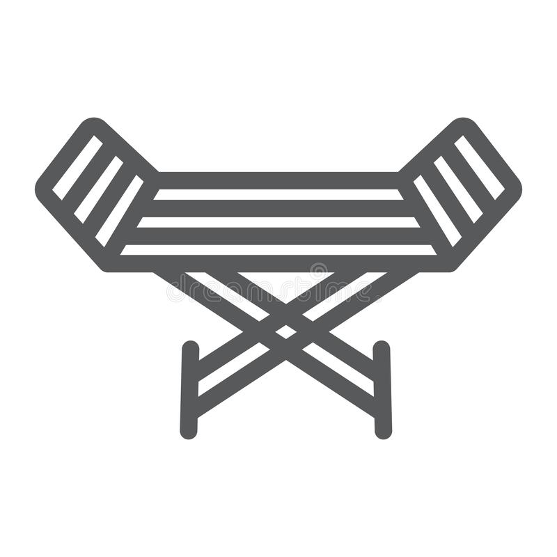 Metal clothes dryer line icon, laundry and housekeeping, rack dryer sign, vector graphics, a linear pattern on a white vector illustration