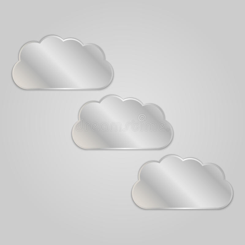 Download Metal clouds stock vector. Image of object, decorative - 33084142