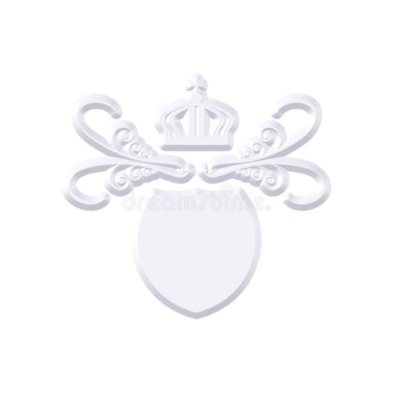 Download Metal Coat With Crown stock illustration. Image of heraldic - 6897579