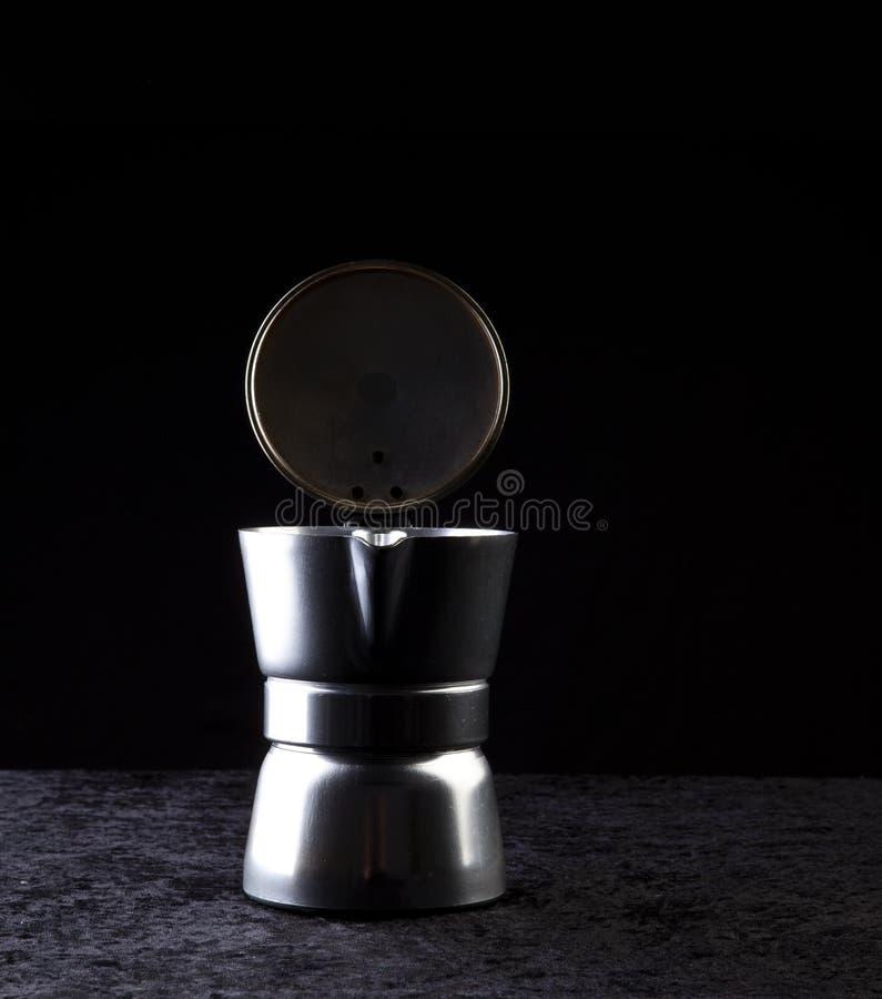 Metal coffeepot royalty free stock photo