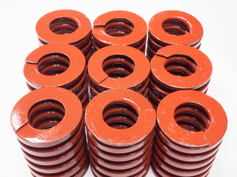 Metal coil spring for mold and die. High strength coil metal spring for mold and die stock photo