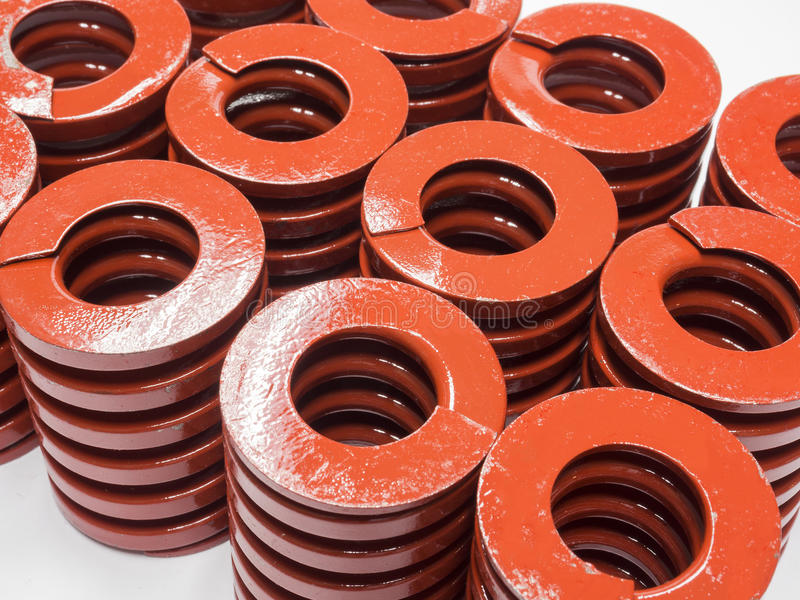 Metal coil spring for mold and die. High strength coil metal spring for mold and die royalty free stock images