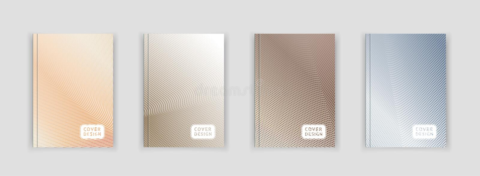 Metal color abstract pattern background with line gradient texture for minimal dynamic cover template design. stock illustration