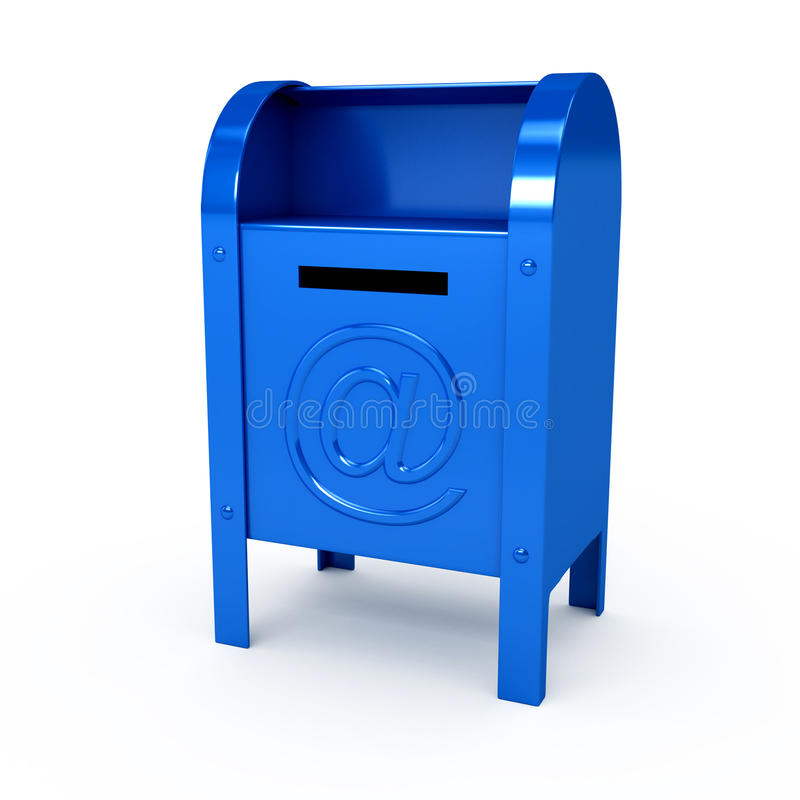 Metal color mailbox over white background vector illustration
