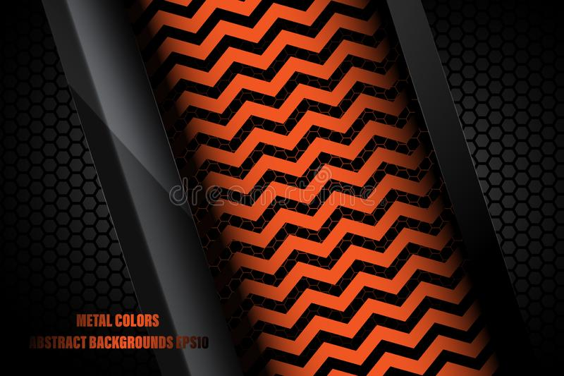 Metal colors abstract wallpaper backgrounds. Metal colors in dark scene vector abstract wallpaper backgrounds stock illustration