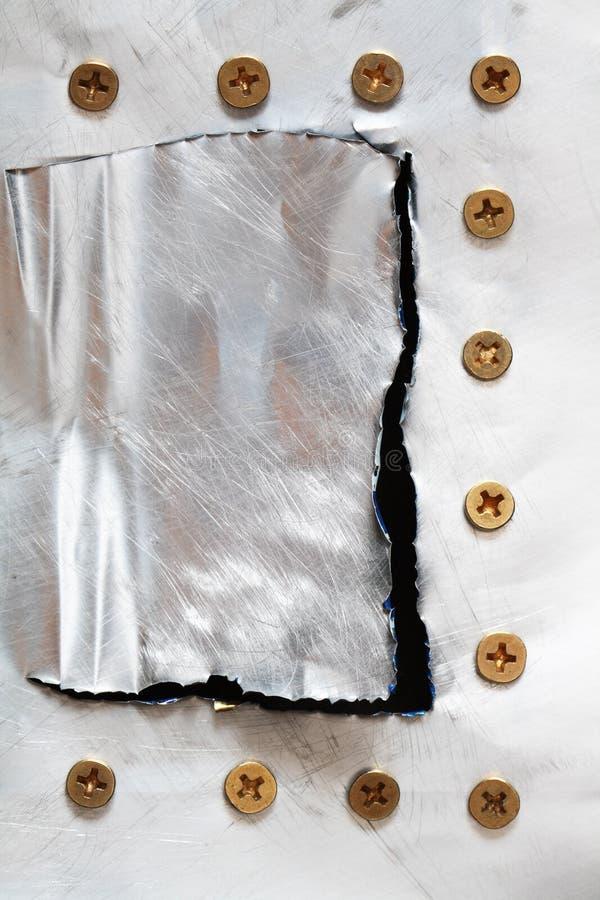 Metal com parafusos imagem de stock