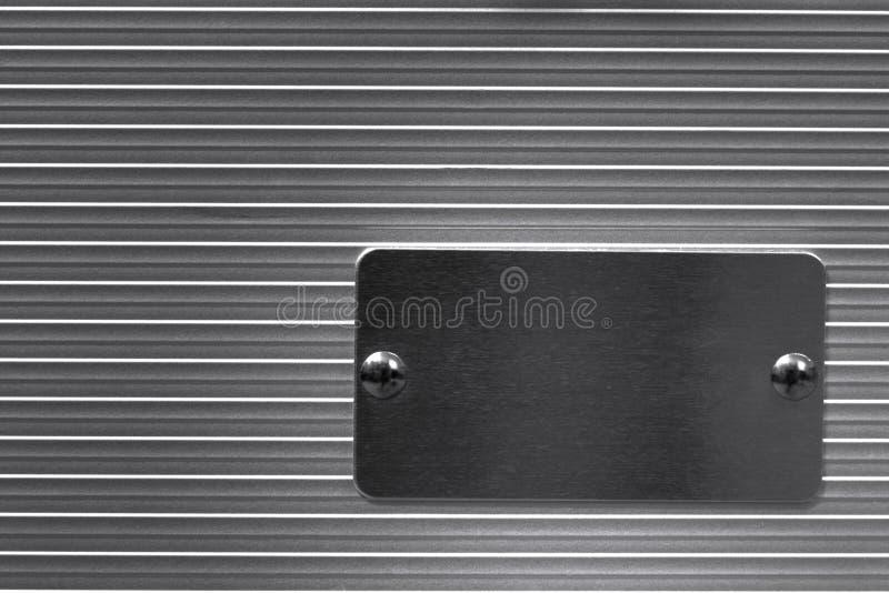 Metal com placa de identificação vazia imagens de stock