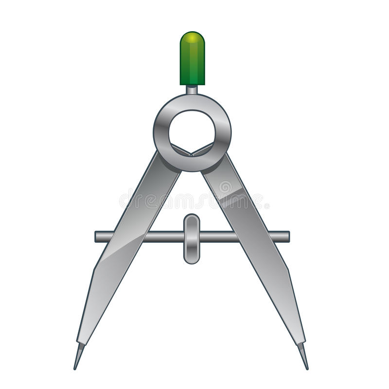 Metal compass stock illustration