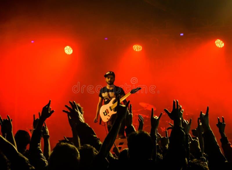 Metal concert stock photos