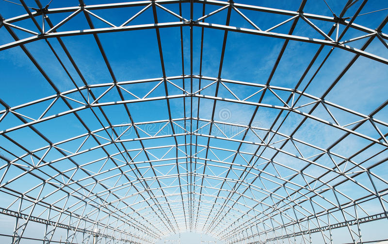 Metal construction framework royalty free stock images
