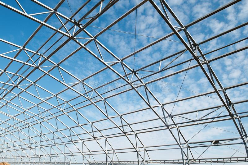 Metal construction framework royalty free stock photo