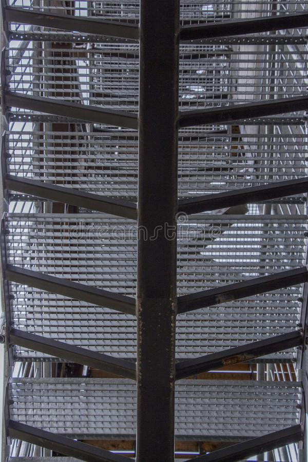 Metal construction. View from the bottom. Steel construction view from below royalty free stock image