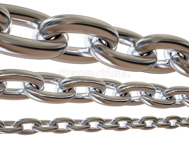 Metal a corrente isolada ilustração royalty free