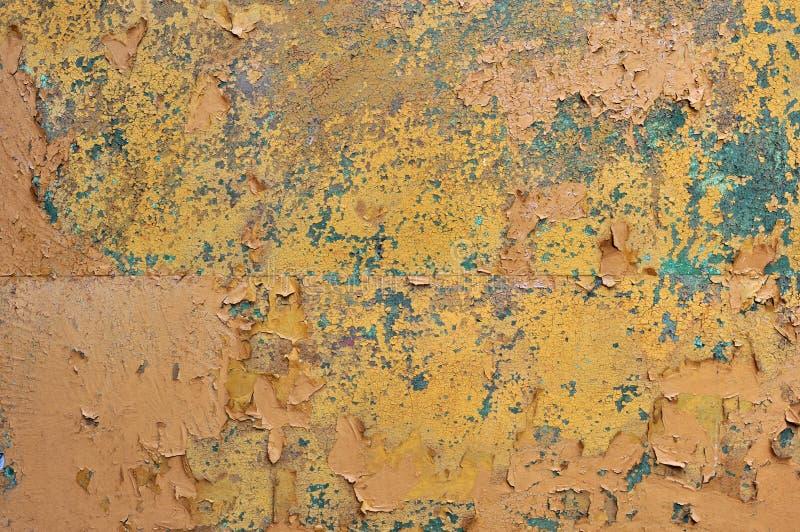 Metal corroído aherrumbrado viejo de Brown u hoja de acero fotografía de archivo