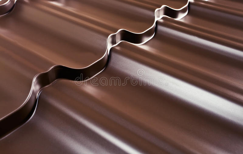 Download Metal covering for a roof stock image. Image of detail - 26857725