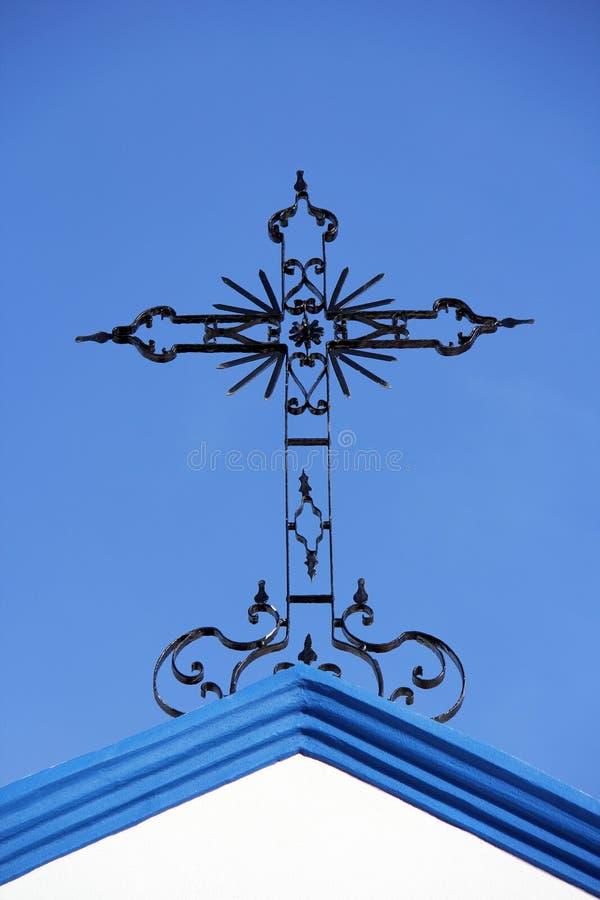 Metal cross royalty free stock photo