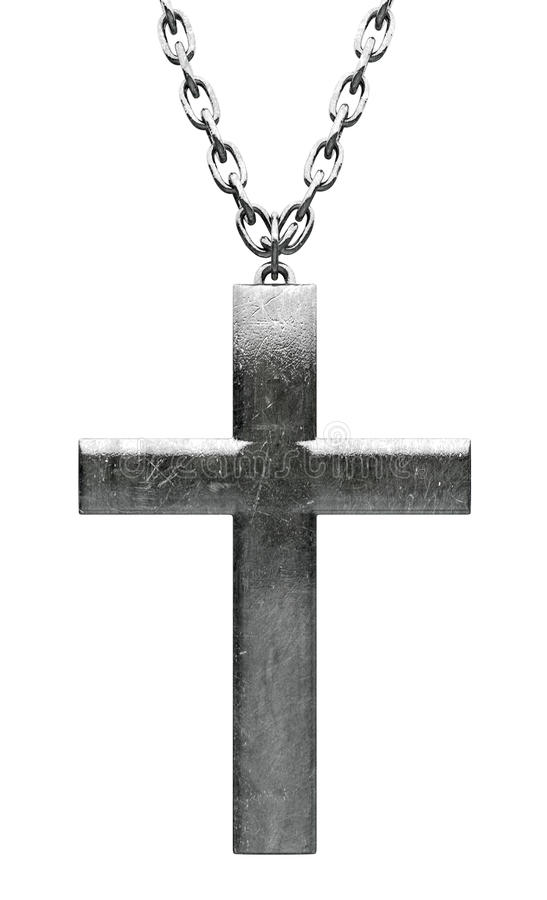 Download Metal Crucifix And Chain Close Up Stock Illustration - Illustration: 31145619