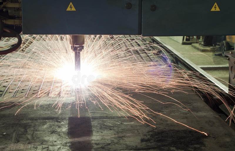 Metal cutter. Metal industrial machines and tools stock photography