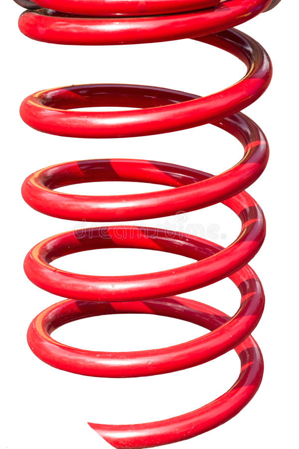 Metal czerwona wiosna zdjęcia stock