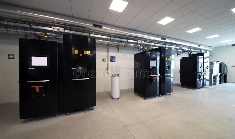 Metal 3D printers (EBM) royalty free stock images
