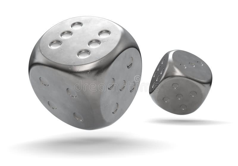 Metal dados ilustração do vetor