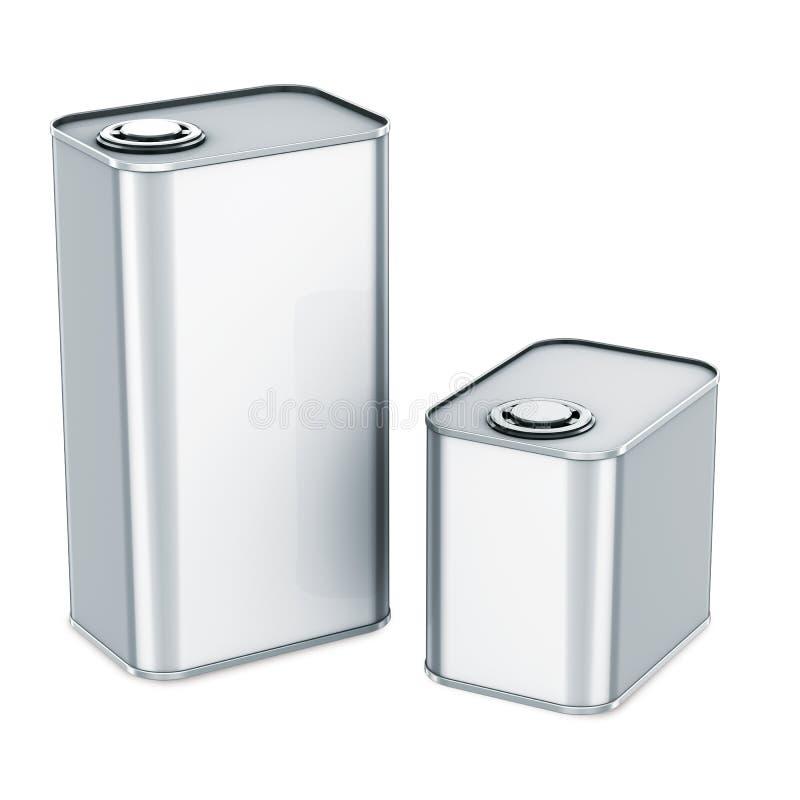 Metal das latas de estanho ilustração do vetor