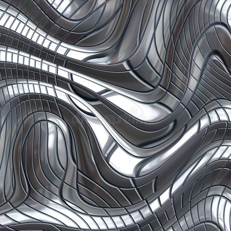 Metal de aço abstrato ilustração do vetor