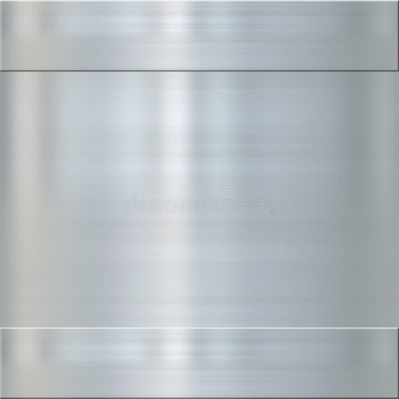 Metal de aço escovado multa ilustração royalty free