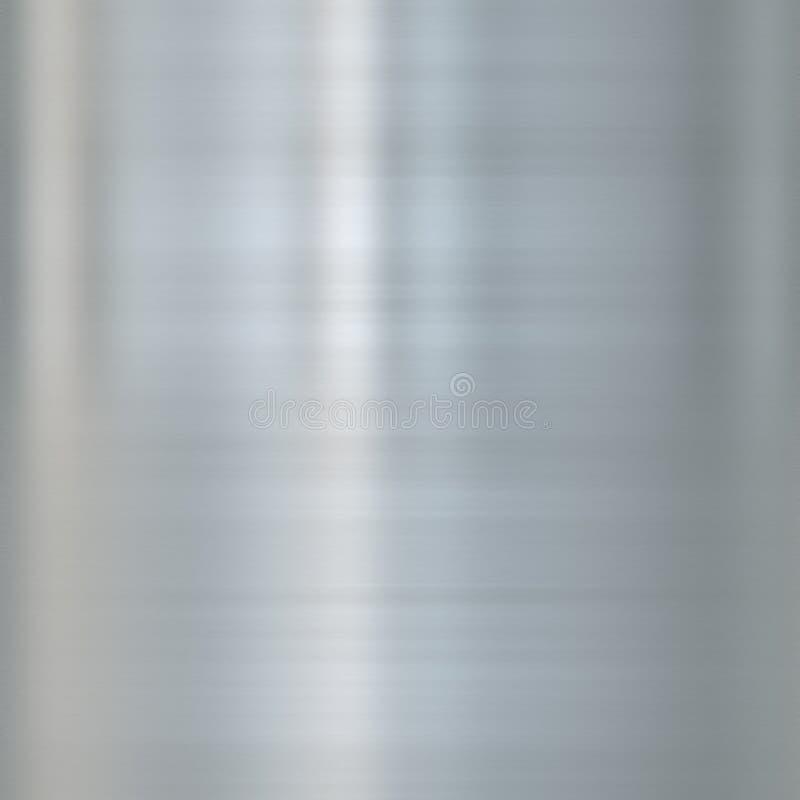 Metal de acero aplicado con brocha multa stock de ilustración