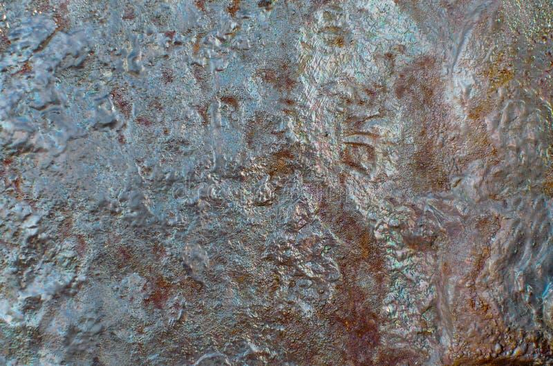 Metal de acero oxidado viejo con moho pesado fotografía de archivo libre de regalías