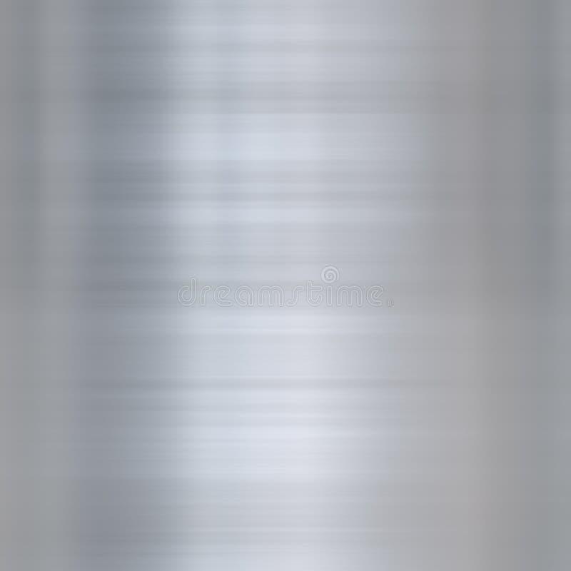 Metal de alumínio escovado multa ilustração stock