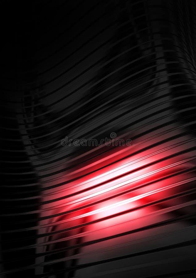 Metal de hoja acanalado, luz reflectora stock de ilustración