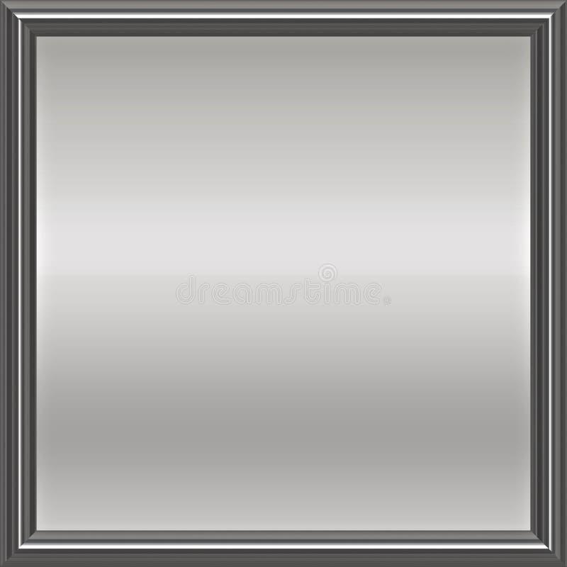 Metal de prata chapa quadro ilustração do vetor