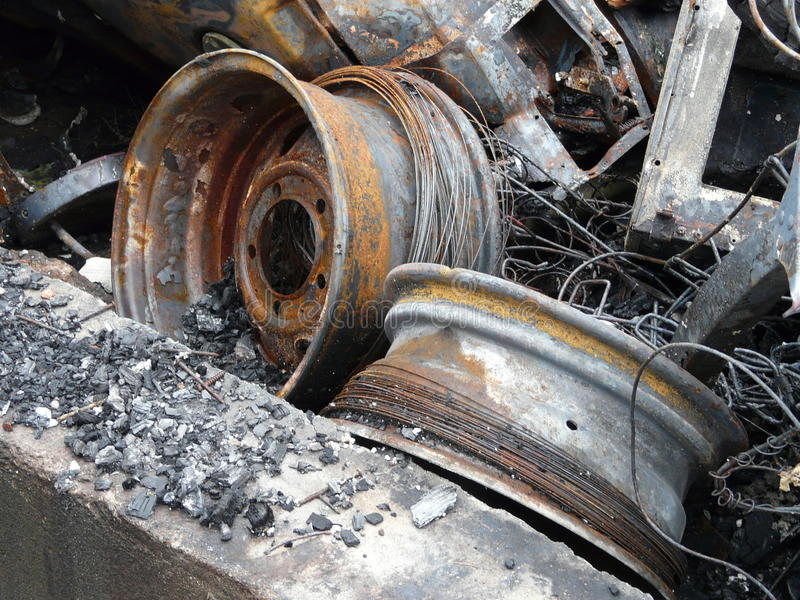 Download Metal Debris stock image. Image of burn, rusty, recyclable - 14498079