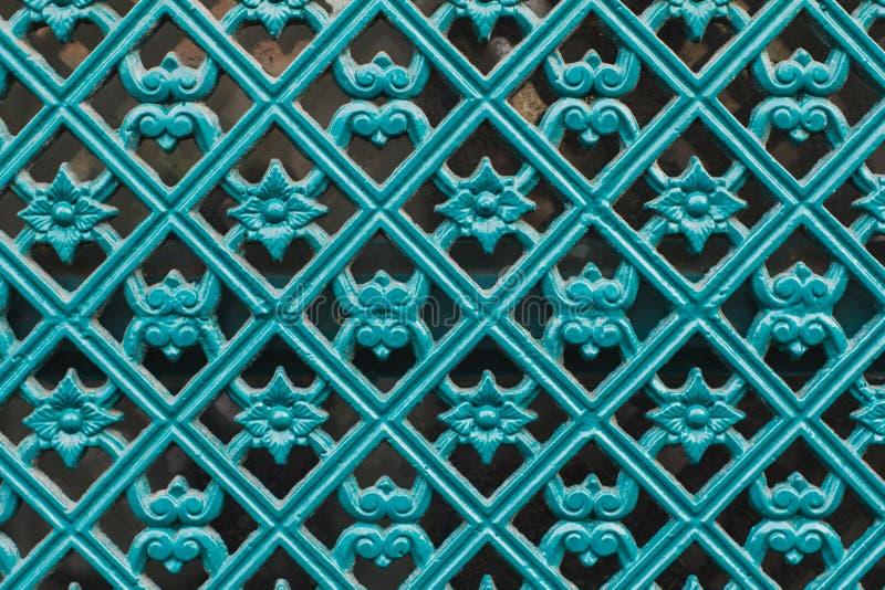 Metal decorativo, pintado, turquesa colorida, teste padrão, textured foto de stock